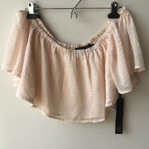Blush Colored Crop Top from Revolve